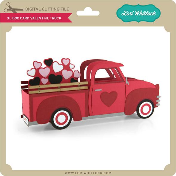 XL Box Card Valentine Truck