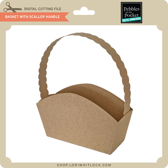 Basket with Scallop Handle