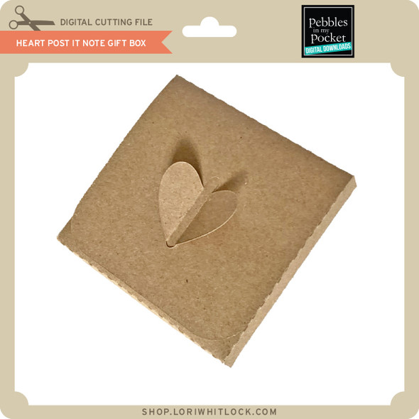 Heart Post It Note Gift Box