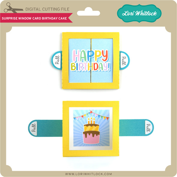 Surprise Window Card Birthday Cake