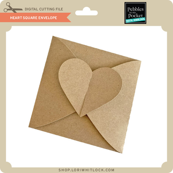 Heart Square Envelope