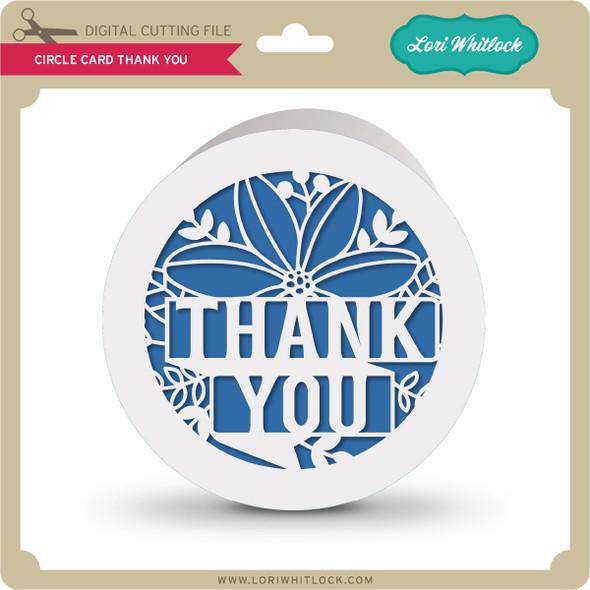 Circle Card Thank You