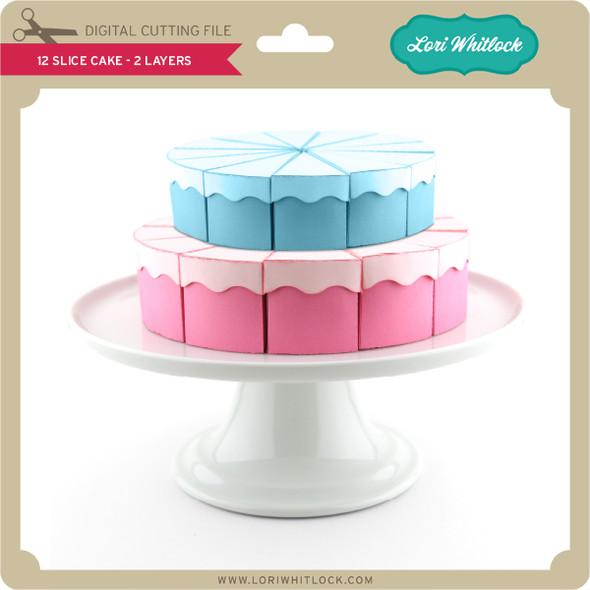 12 Slice Cake 2 Layers