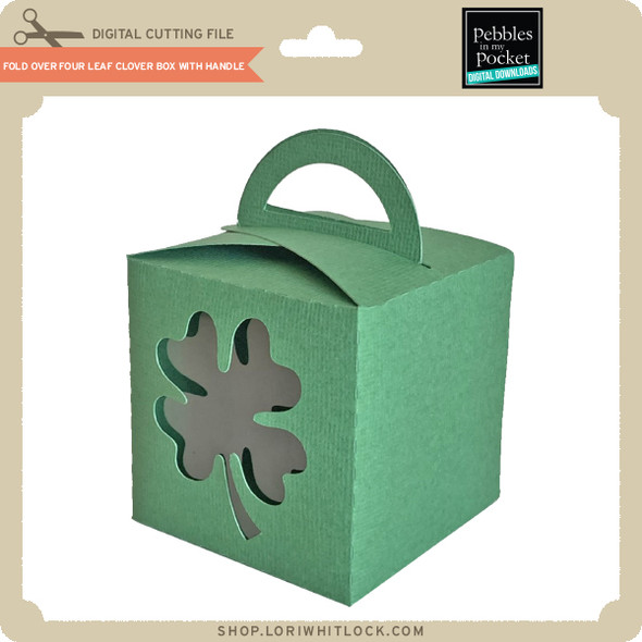 Fold Over Four Leaf Clover Box with Handle