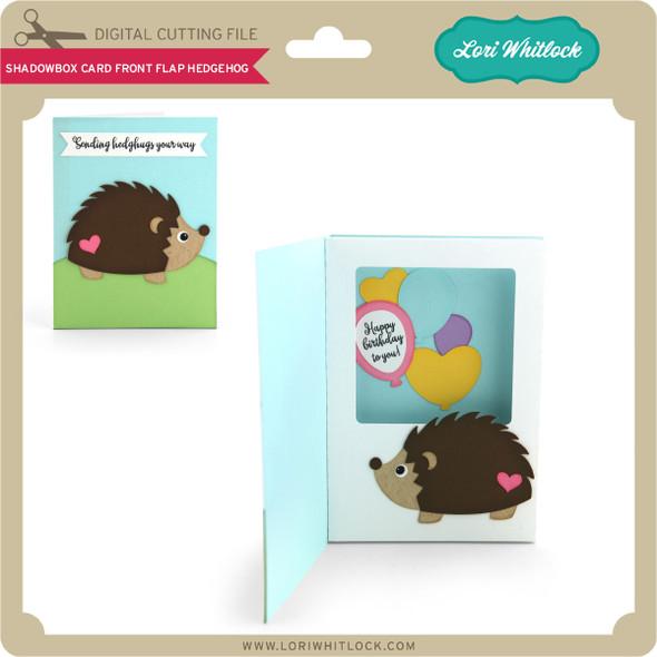 Shadowbox Card Front Flap Hedgehog