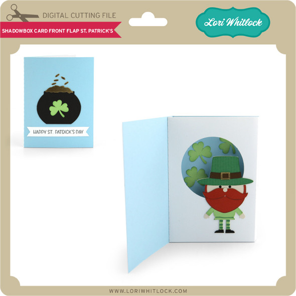 Shadowbox Card Front Flap St Patrick's