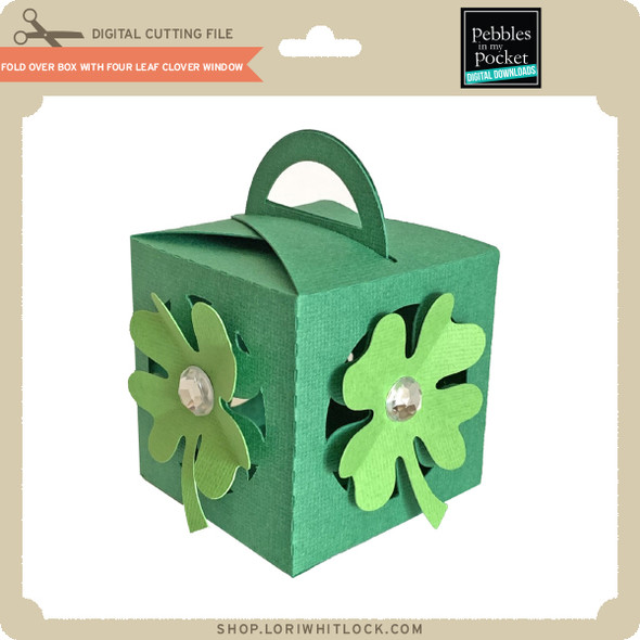 Fold Over Box With Four Leaf Clover Window