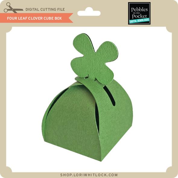 Four Leaf Clover Cube Box