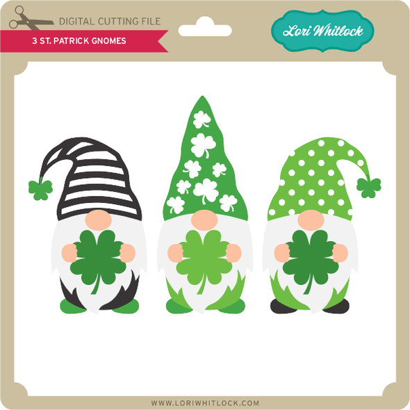 3 St Patrick Gnomes
