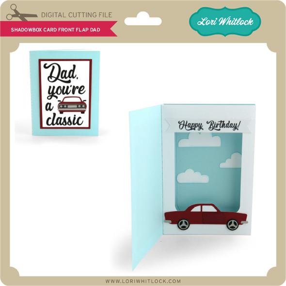 Shadowbox Card Front Flap Dad