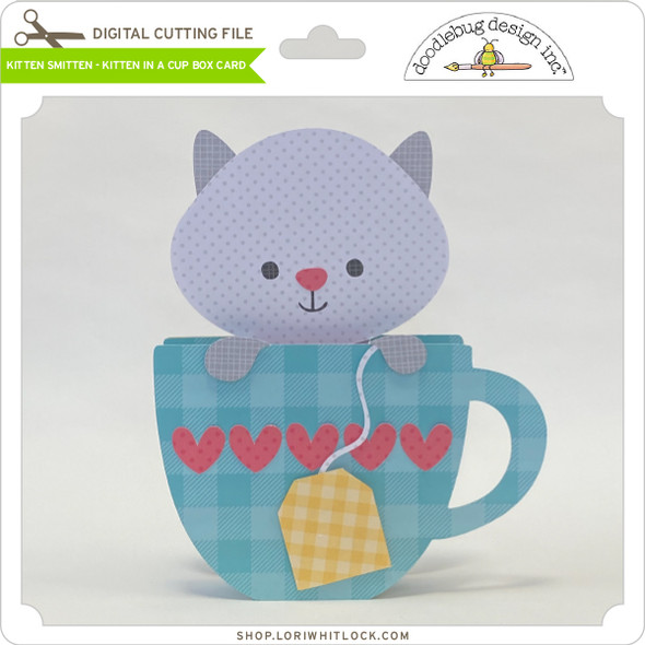 Kitten Smitten Kitten in a Cup Box Card