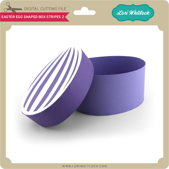 Easter Egg Shaped Box Stripes 2