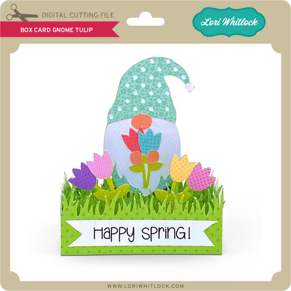 Box Card Gnome Tulip