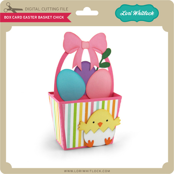 Box Card Easter Basket Chick