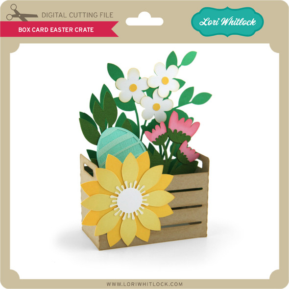 Box Card Easter Crate