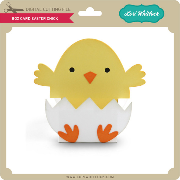 Box Card Easter Chick