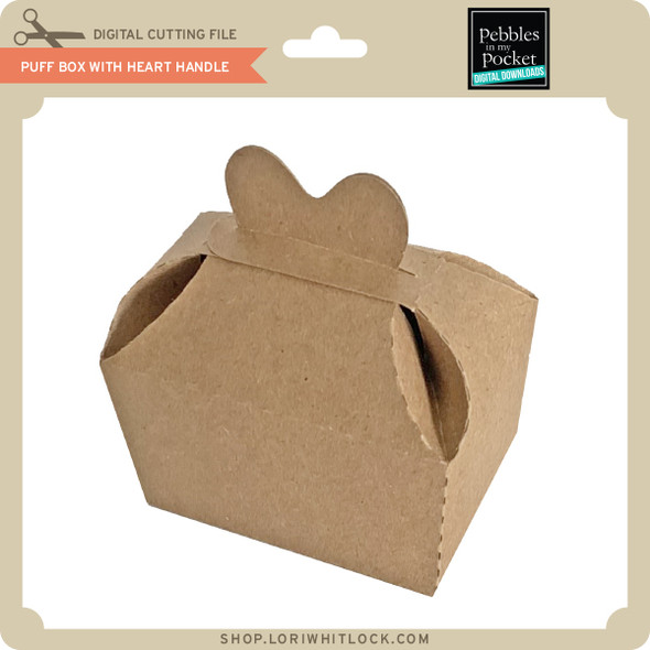 Puff Box with Heart Handle