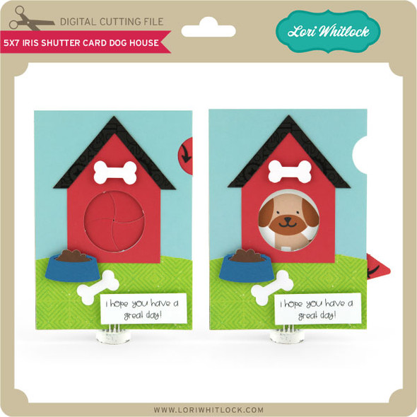 5x7 Iris Shutter Card Dog House