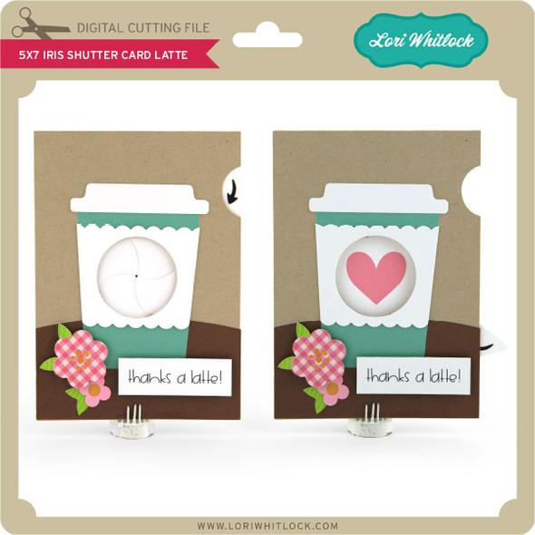 5x7 Iris Shutter Card Latte