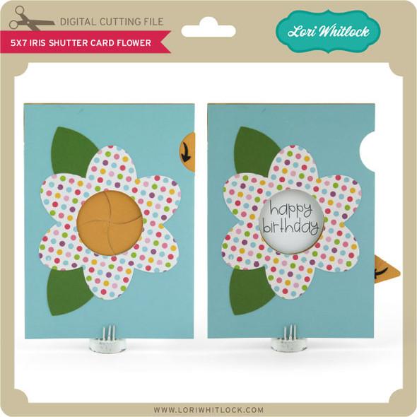 5x7 Iris Shutter Card Flower