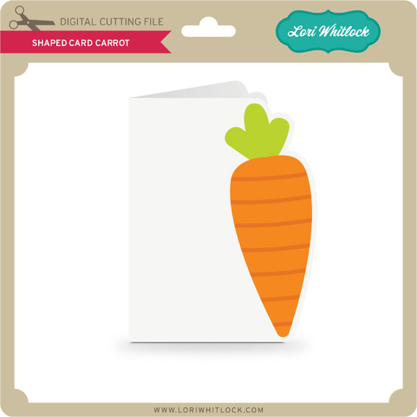 Shaped Card Carrot