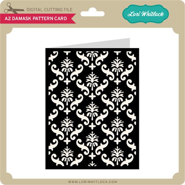 A2 Damask Pattern Card