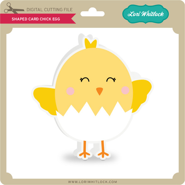 Shaped Card Chick Egg