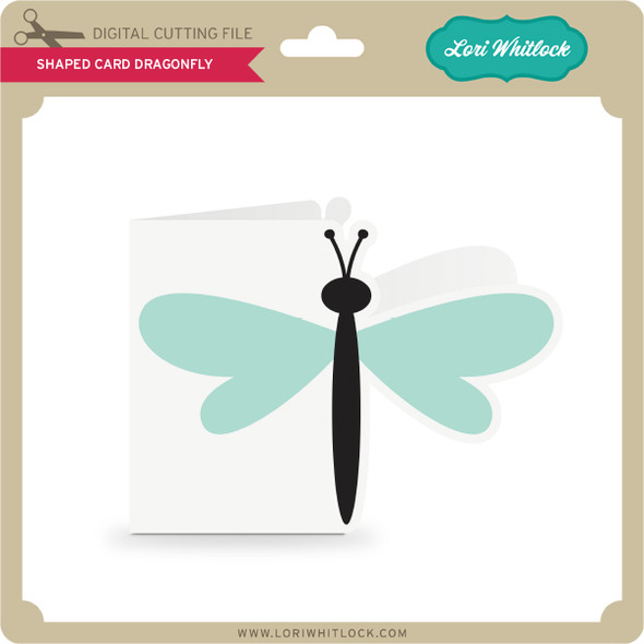 Shaped Card Dragonfly