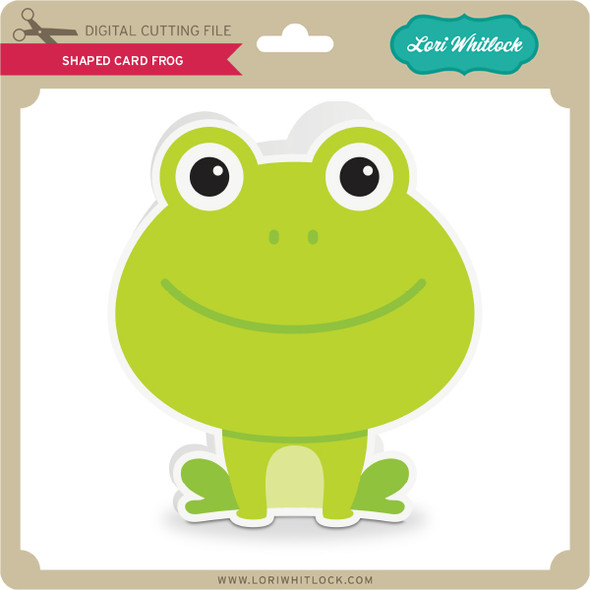 Shaped Card Frog