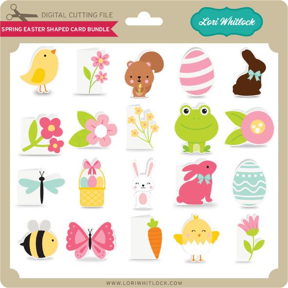 Spring Easter Shaped Card Bundle