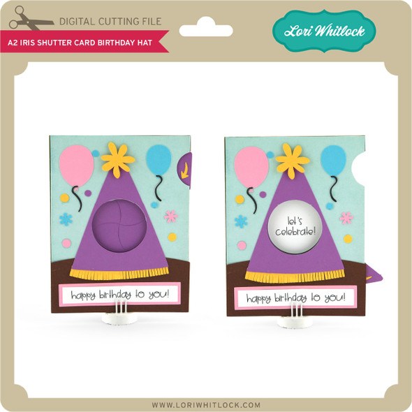 A2 Iris Shutter Card Birthday Hat