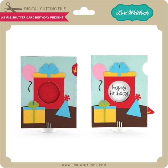 A2 Iris Shutter Card Birthday Present