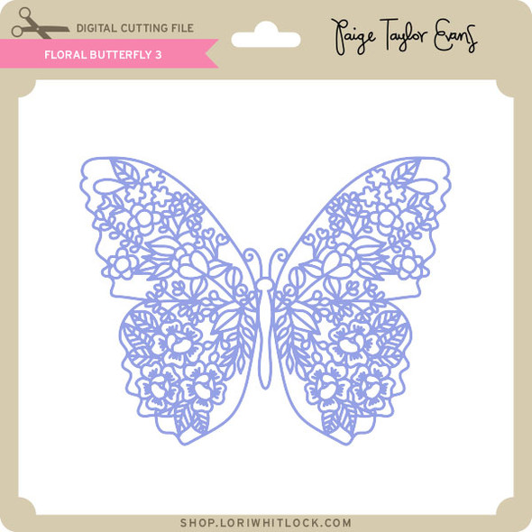Floral Butterfly 3