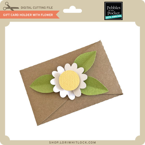Gift Card Holder With Flower