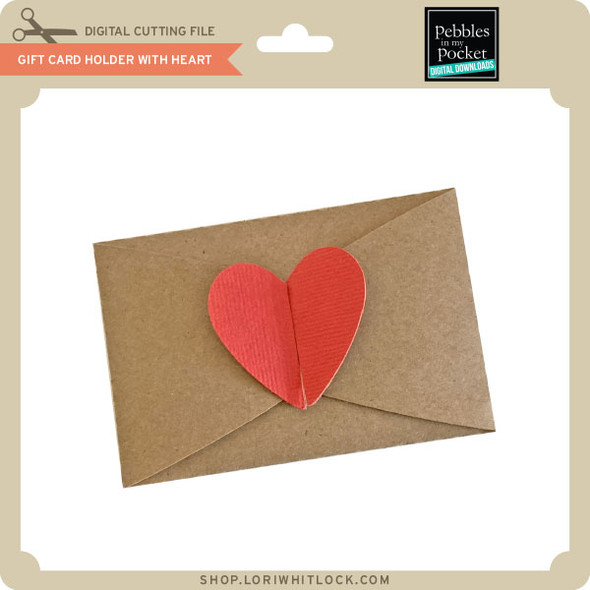 Gift Card Holder With Heart