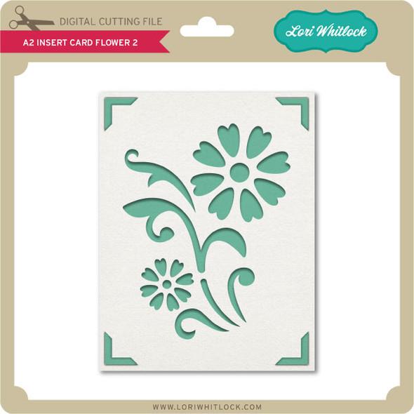 A2 Insert Card Flower 2