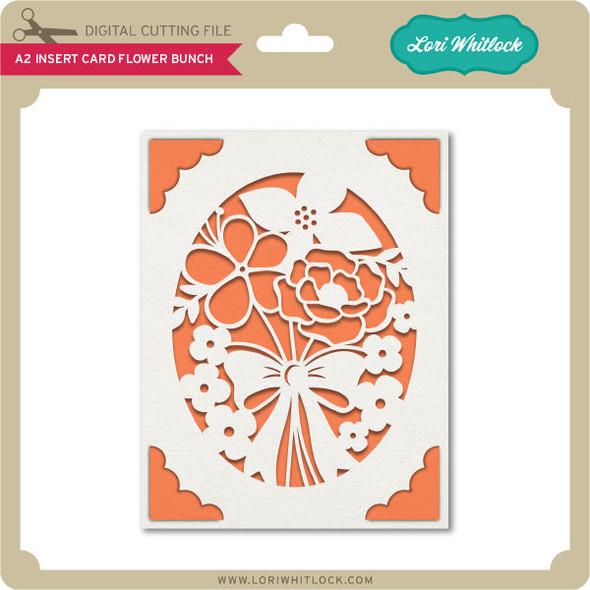 A2 Insert Card Flower Bunch
