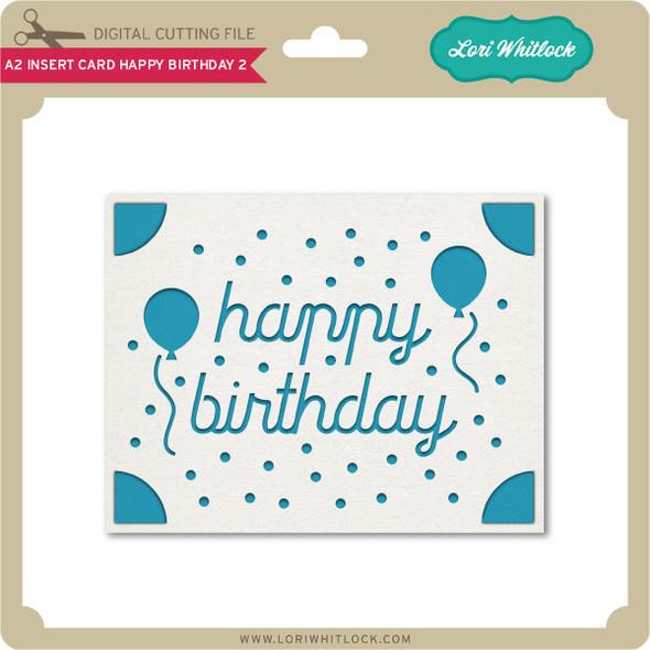 A2 Insert Card Happy Birthday 2