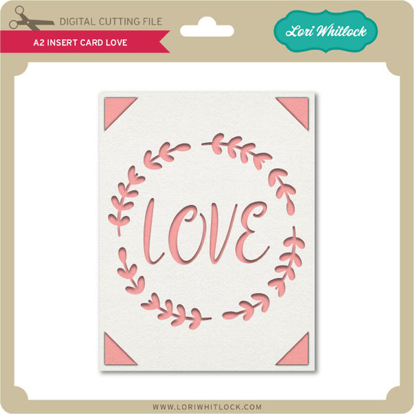A2 Insert Card Love