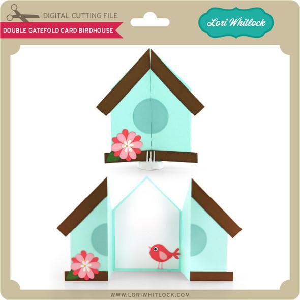 Double Gatefold Card Birdhouse