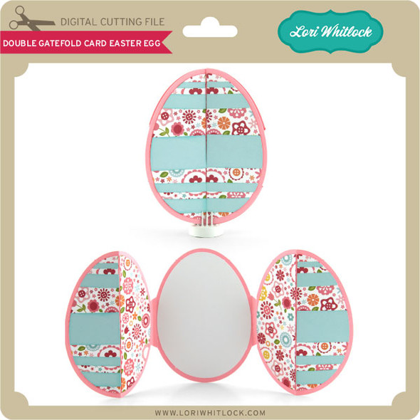 Double Gatefold Card Easter Egg