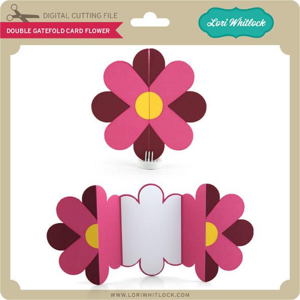 Double Gatefold Card Flower