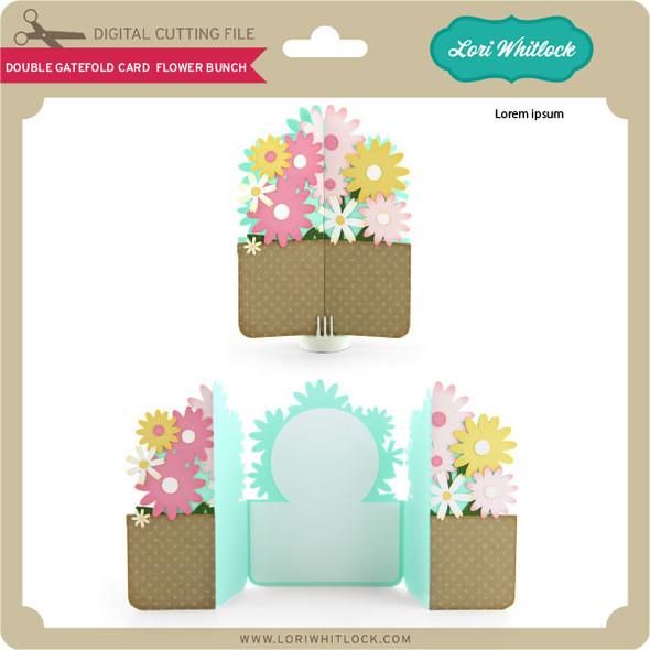 Double Gatefold Card Flower Bunch