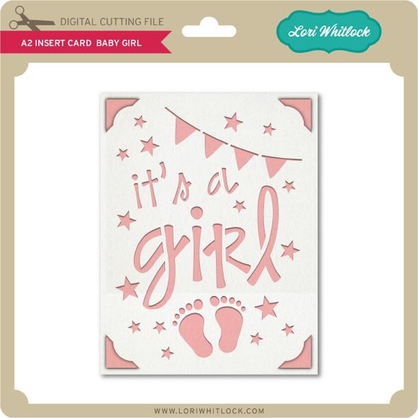 A2 Insert Card Baby Girl
