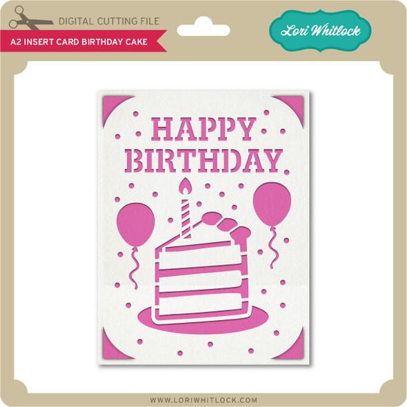 A2 Insert Card Birthday Cake