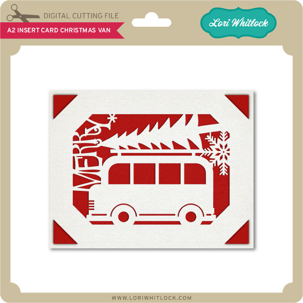 A2 Insert Card Christmas Van