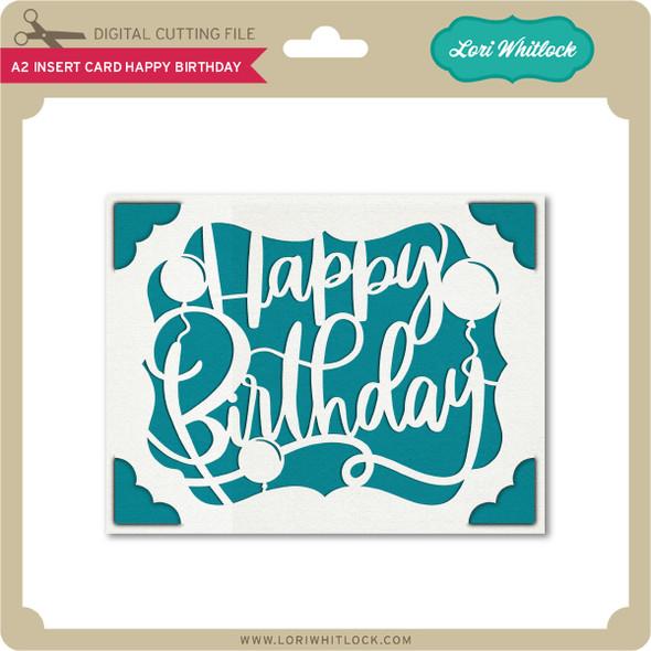 A2 Insert Card Happy Birthday 3