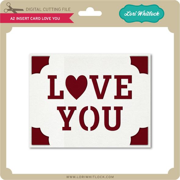 A2 Insert Card Love You