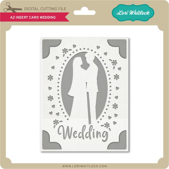 A2 Insert Card Wedding