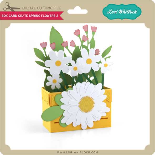 Box Card Crate Spring Flowers 2